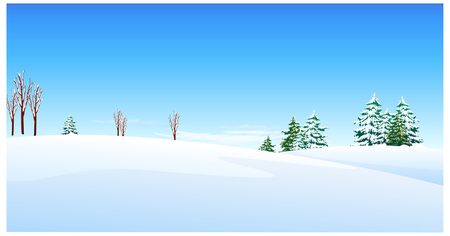 horizon over land: this illustration is the general nature of the winter landscape.