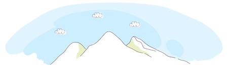 mountaintop: Mountain and sky
