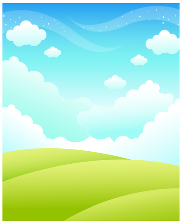 tranquillity: This illustration is a common natural landscape. Illustration