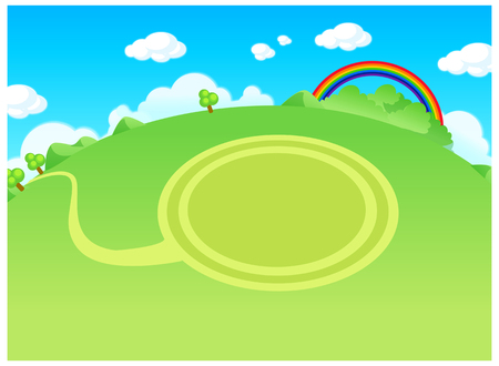 tranquillity: Green landscape and circle path