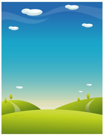 rolling landscape: Rolling landscape with blue sky