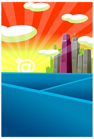 This illustration is a common cityscape. Illustration