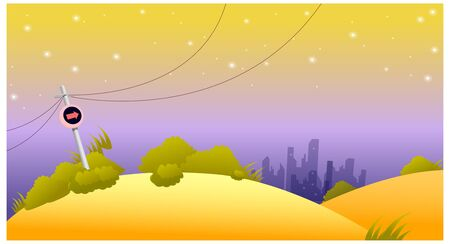 slope: This illustration is a common natural landscape. Illustration