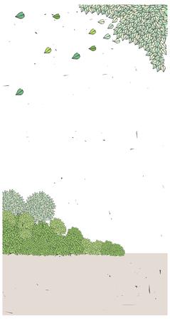 녹색 잎 떨어지는
