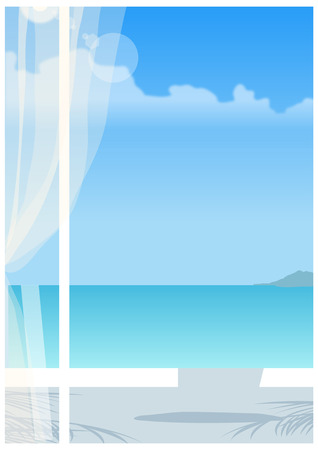horizon over water: View of sea through window