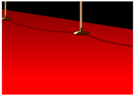 roped: Rope barriers at red carpet event Illustration