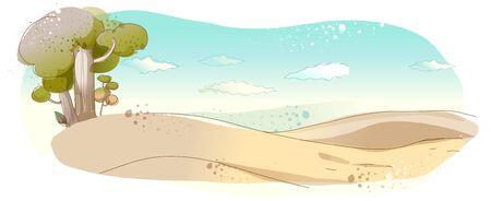 slope: Desert Illustration