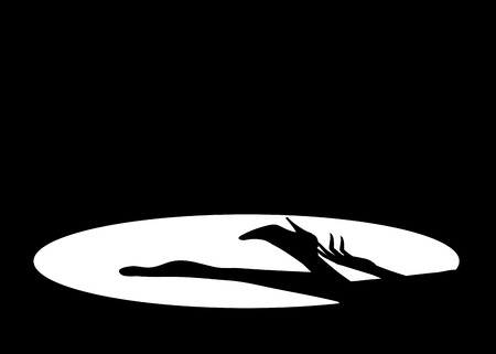spot lit: Black shadow