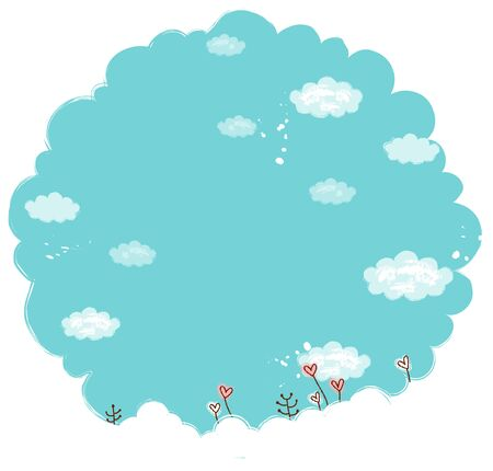 blue sky and flower Illustration