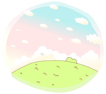 slope: Green Landscape sky