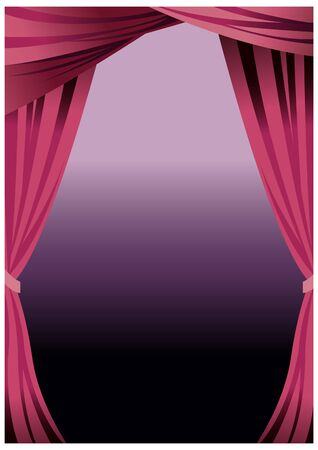 close up of theatre curtain