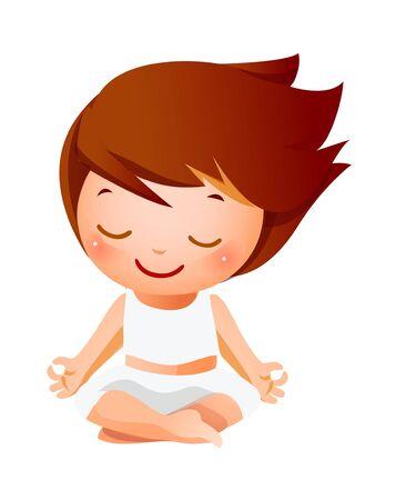 Girl meditating Illustration