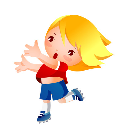 Girl throwing