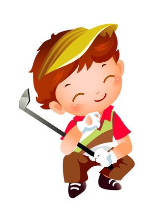 Boy with Golf