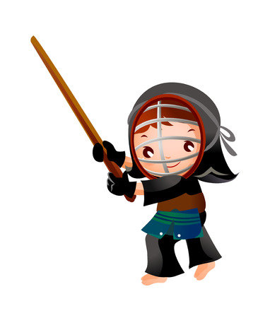 portrait of a girl in kendo fencer