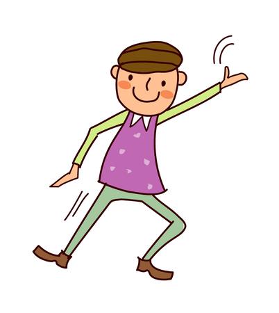 Portrait of Boy dancing
