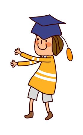Portrait of Boy wearing graduation cap