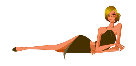 Side view of woman lying