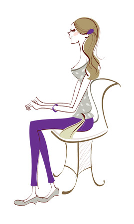 Side view of woman sitting
