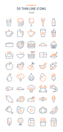 Think Line Icons - Food
