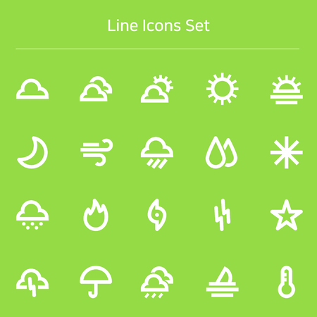 Set of line icons_ weather