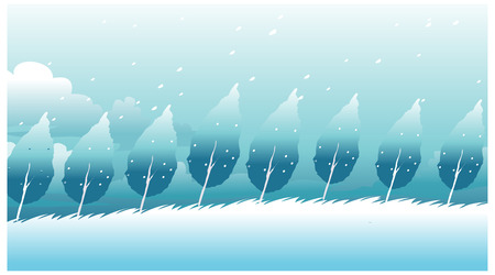 wind blown: this illustration is the general nature of the winter landscape.