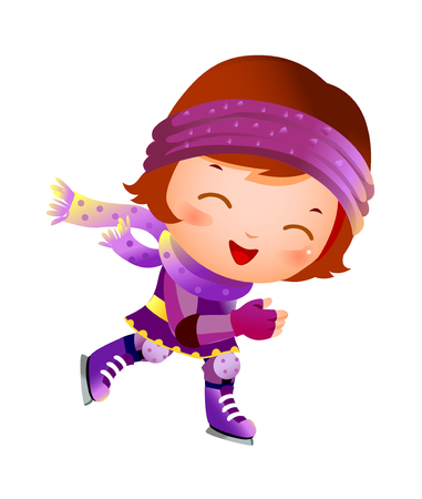 Girl on ice skate