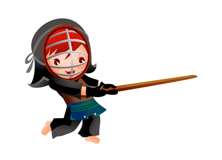 Portrait of a girl kendo fencer
