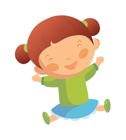 Portrait of happy girl Illustration