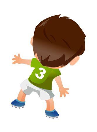 backview: Soccer player Illustration