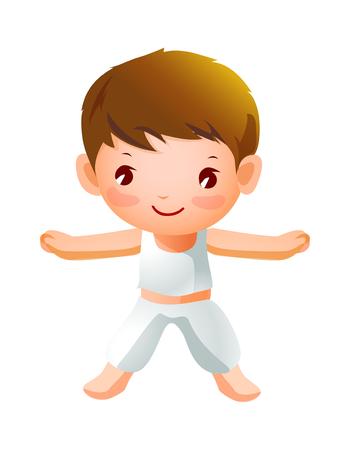 Boy Exercising