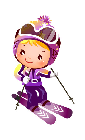 Girl Skiing