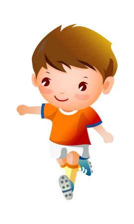 Boy sport player running