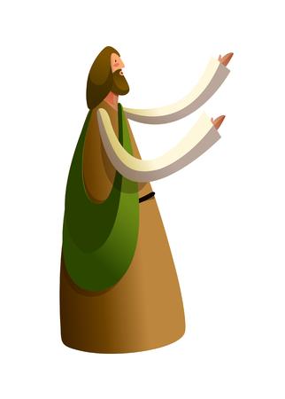 jesus standing: Side view of Jesus Christ standing