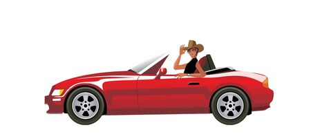 car: Side view of man sitting in car