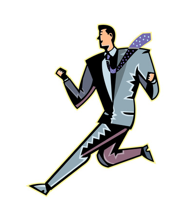 Close-up of man running