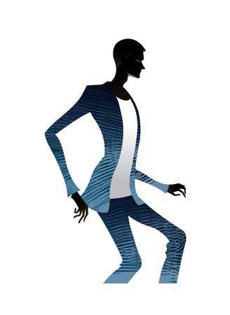 Side view of man standing Illustration