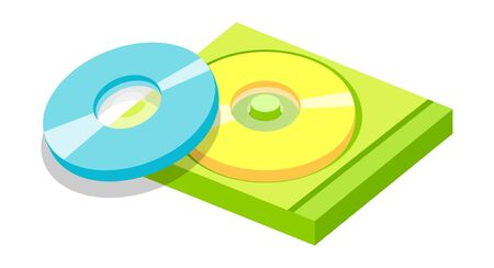 Vector icon cds