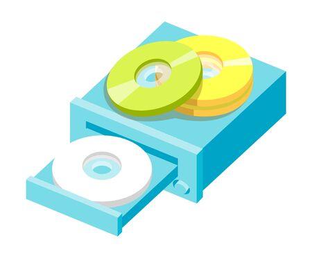 Vector icon cds