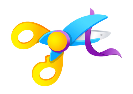 scissors icon: Vector icon scissors