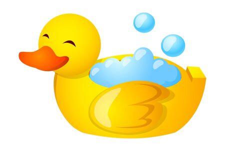 Vector icon duck bath