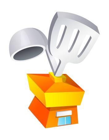 Vector icon cooker