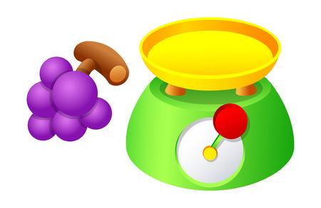 Vector icon scale and grape