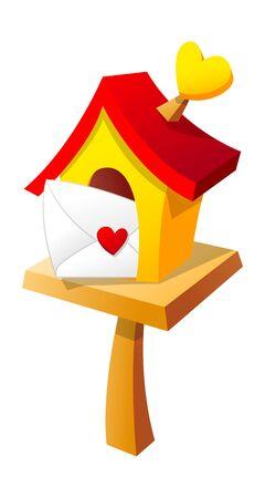 Vector icon mailbox and letter Illusztráció