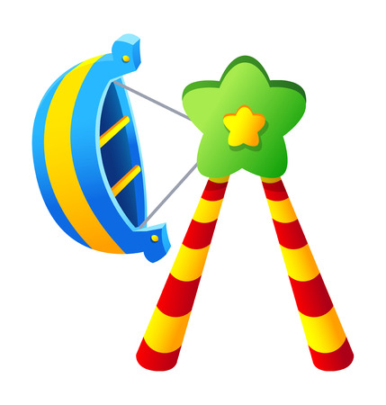 Vector icon amusement park rides Illustration