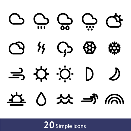 sunup: Set of simple line icons_weather