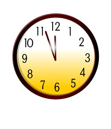 A view of a clock vector icon.