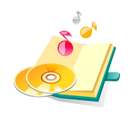 Icon of a cds and diary.