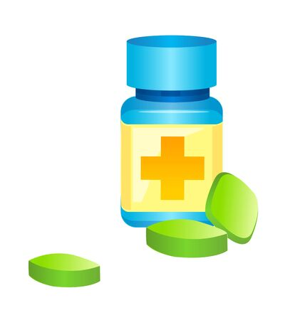 Icon of a pill bottle.