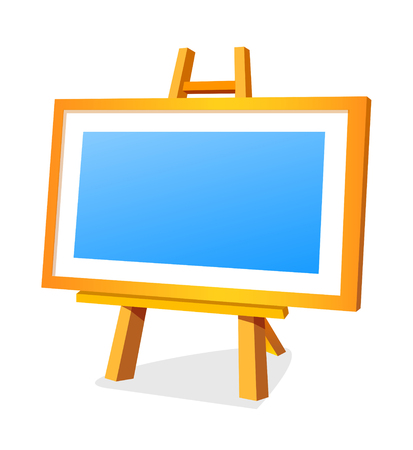 Icon of a easel. Illustration